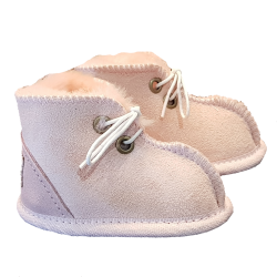 Baby Booties Ugg Pink side UGGS brand