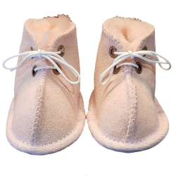Baby Booties Ugg Pink front laces shot