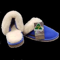 Classic Womens Ugg Sheepskin Slipper Scuff Electric Blue side
