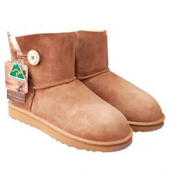 One Button Ugg Boots Chestnut side
