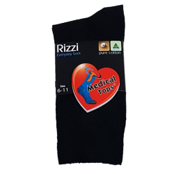 Pure Cotton Medical Top Socks Black front