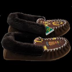 Moc-enate Sheepskin Moccasin Slippers side