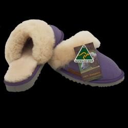 Classic Womens Ugg Sheepskin Slipper Scuff Purple side