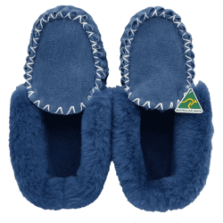 Eweniq Duck Egg Blue Sheepskin Moccasin Slippers top
