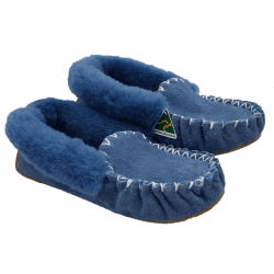 Eweniq Duck Egg Blue Sheepskin Moccasin Slippers angle