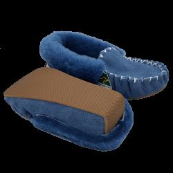 Eweniq Duck Egg Blue Sheepskin Moccasin Slippers bottom