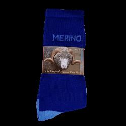 Electric Blue Eweniq Merino Socks