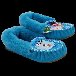 Eweniq Blue Sisters Sheepskin Moccasin Slippers side