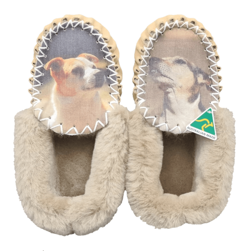 Personalised Sheepskin Moccasin Slippers top