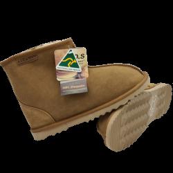 Short Ankle Sheepskin Ugg Boots Chestnut